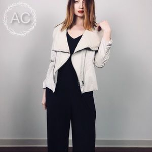 Alice + Olivia Stephan Jacket Leather and Cotton